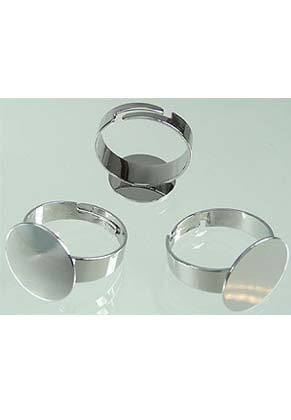 www.sayila.com - Metal fingerring, for 15mm rhinestone flatback round (adjustable size >= 16 = 56mm = Ø 18mm)