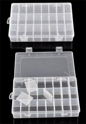 www.sayila.es - Caja de almacenaje de sintético 19,8x13,4cm con máximo 24 secciónes (inclusive tabiques)