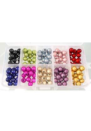 www.sayila-perlen.de - Basispaket Kunststoff miracle Perlen rund (± 8mm) maß Dose 125x65x23mm
