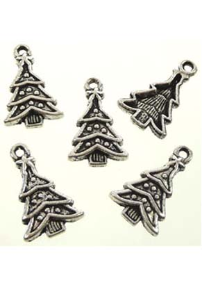 www.sayila.com - Metal pendants/charms Christmas tree ± 23x14mm (± 40 pcs.)