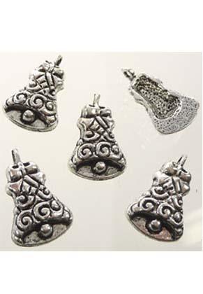 www.sayila.com - Metal pendants/charms Christmas bell ± 24x15mm (± 30 pcs.)