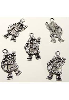 www.sayila.com - Metal pendants Santa Claus 23x13mm (± 50 pcs.)