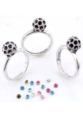 www.sayila.com - Metal fingerrings ball including pointed back (size 16 = 56mm = Ø 18mm)