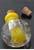 www.sayila.nl - Glazen flesje Italian style voor parfum versierd met zilverfolie en met kurk ± 34x24mm