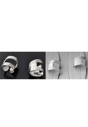 www.sayila.com - Metal ear cuffs decorated ± 12x11mm