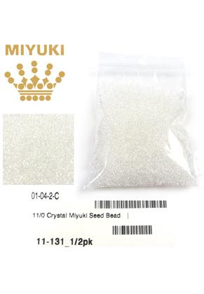 www.sayila.nl - Miyuki glas rocailles 11/0- Transparant Crystal 131 (± 5500 st.)