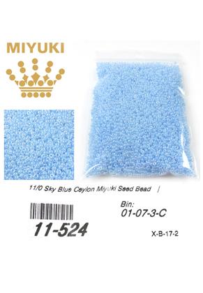 www.sayila.nl - Miyuki glas rocailles 11/0- Ceylon Sky Blue 524 (± 5500 st.)
