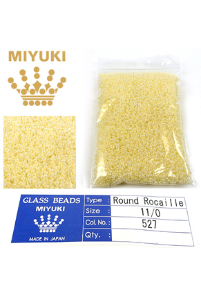 www.sayila.fr - Miyuki rocailles de verre 11/0- Ceylon Butter Cream 527 (± 5500 pcs.)