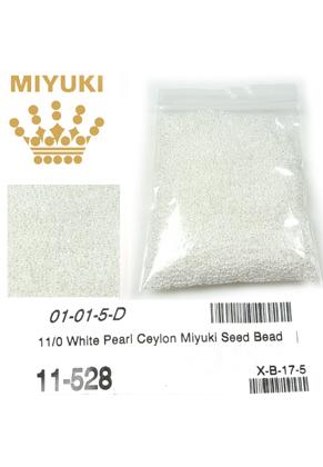 www.sayila.fr - Miyuki rocailles de verre 11/0- Ceylon White Pearl 528 (± 5500 pcs.)