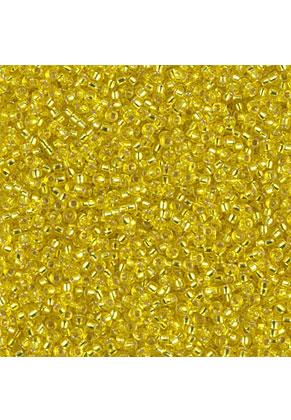 www.sayila-perlen.de - Miyuki Glas rocailles 15/0- Silverlined Yellow 6 (± 12500 St.)