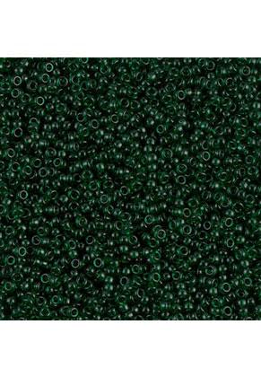 www.sayila.es - Miyuki mostacillas/rocallas de vidrio 15/0- Transparant Dark Emerald 156 (± 12500 pzs.)