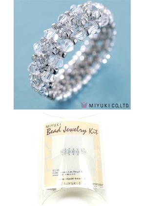 www.sayila.fr - Miyuki kit de bijoux anneau 'Cubic Zirconia Line Ring (Silver)' no.B0-95/1 (inclusivement mode d'emploi)