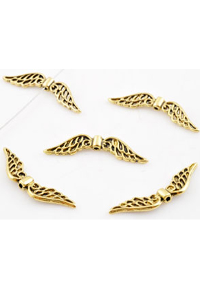 www.sayila.com - Metal beads wings decorated ± 31x8mm (hole ± 1mm)