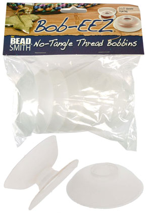 www.sayila.es - Beadsmith Bob-eez no-tangle thread bobbins/bobina alambre Kumihimo, large (8 piezas)