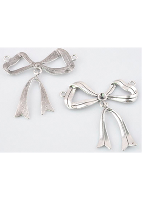 www.sayila.com - Metal pendants/connectors bow with setting for ± 6mm pointed back ± 65x63mm (eyes ± 3mm)