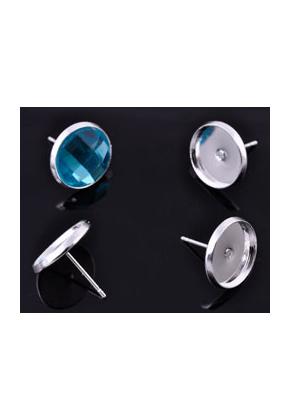 www.sayila.nl - Metalen oorstekers met kastje voor ± 14mm plaksteen ± 16x14mm
