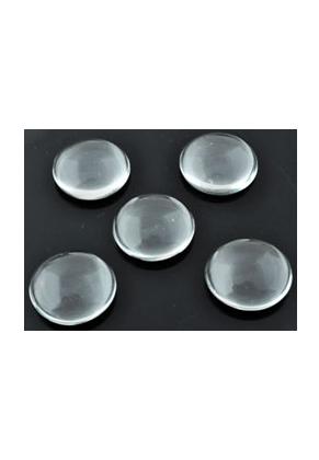 www.sayila-perlen.de - Glas Klebsteine/cabochon rund ± 28mm, ± 7mm dick