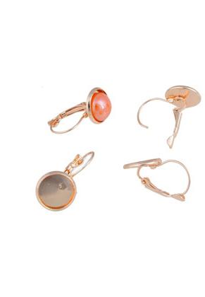 www.sayila.be - Metalen klap oorbellen met kastje ± 26x14mm voor ± 12mm plaksteen
