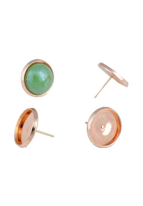 www.sayila.com - Metal ear studs with setting for ± 14mm flat back ± 16x14mm