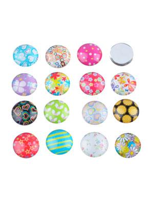 www.sayila.nl - Mix glas plakstenen/cabochon versierd ± 13,8mm ± 5mm dik (geschikt voor ± 14mm kastje)