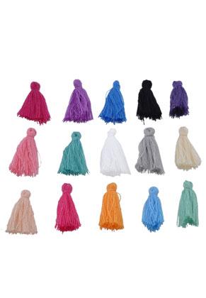 www.sayila.es - Mezcla borlas de textil ± 28x5mm