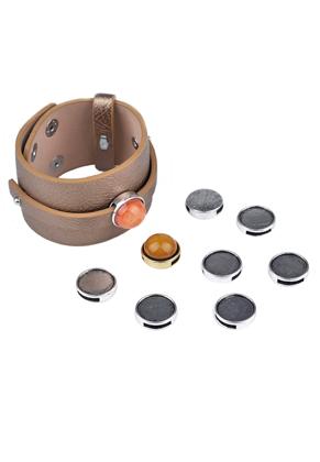 www.sayila-perlen.de - DoubleBeads EasySlide Schiebeperlen 17x5mm mit Fassung für 15mm Klebstein