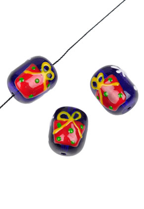 www.sayila.com - Glass beads present oval 18x14mm