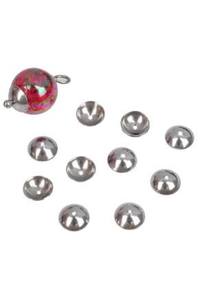www.sayila.nl - Metalen (roestvrij staal) kapjes ± 6mm (gat ± 1mm) (± 65 st.)
