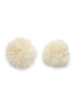 www.sayila.com - Fluff balls with elastic loop 60mm