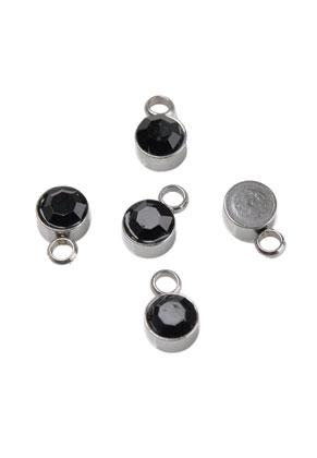 www.sayila.fr - Pendentifs/breloques en métal (acier inoxydable) avec strass 8x5mm