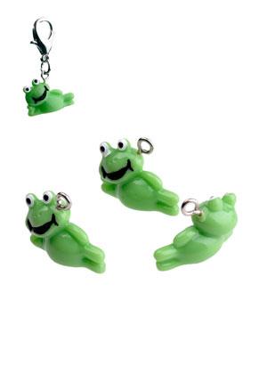 www.sayila.com - Synthetic pendants/charms frog 16x20mm