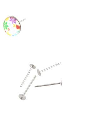 www.sayila.nl - Roestvrijstalen oorstekers 12x3mm voor plaksteen > 3mm