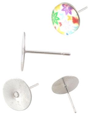 www.sayila.nl - Roestvrijstalen oorstekers 12x8mm voor plaksteen > 8mm
