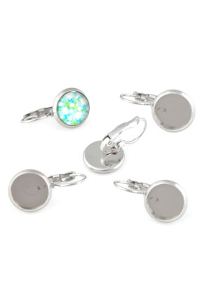 www.sayila.com - Metal (stainless steel) snap earrings 17x8mm for flat back