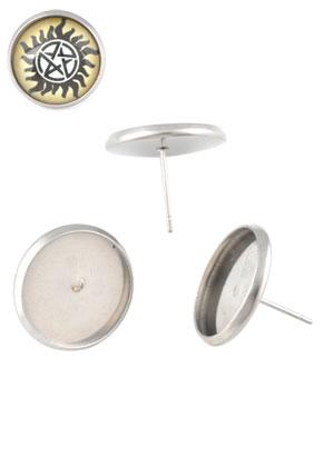 www.sayila.nl - Metalen (roestvrij staal) oorstekers 13x18mm voor plaksteen