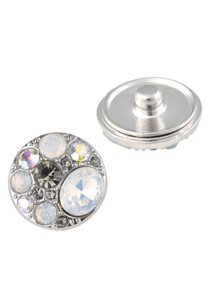 www.sayila.com - Metal press studs DoubleBeads EasyButton with strass ± 20mm
