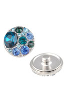 www.sayila.com - Metal press studs DoubleBeads EasyButton with strass ± 20mm - D19466