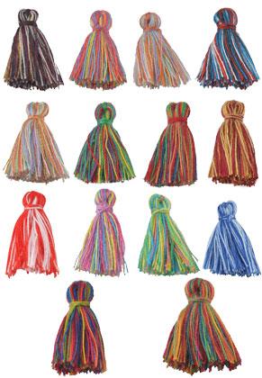 www.sayila.fr - Mélange de pompons en textile 20x15mm