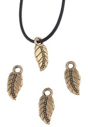 www.sayila.com - Metal pendants/charms feather 17x7mm