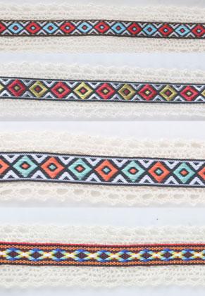 www.sayila.nl - Mix stoffen linten Aztec 100x3.2cm