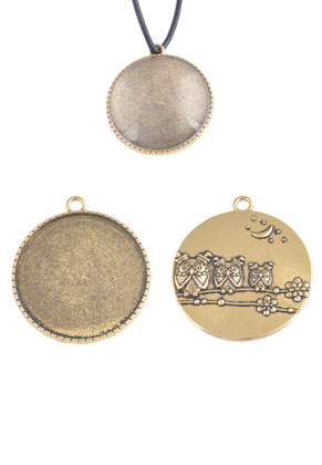 www.sayila.com - Metal pendants 42x37mm with setting for 35mm flat back