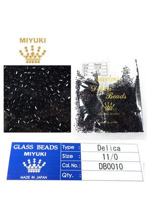 www.sayila.fr - Miyuki Delica Beads rocailles en verre 11/0 1,6x1,3mm DB0010 (10000 pcs.)