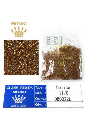 www.sayila.fr - Miyuki Delica Beads rocailles en verre 11/0 1,6x1,3mm DB0022L (10000 pcs.)