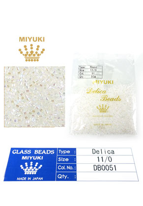 www.sayila.com - Miyuki Delica Beads glass seed beads 11/0 1,6x1,3mm DB0051 (10000 pcs.)