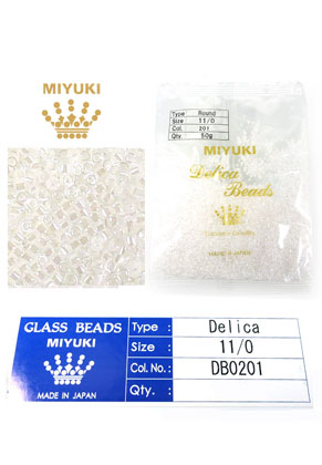 www.sayila.fr - Miyuki Delica Beads rocailles en verre 11/0 1,6x1,3mm DB0201 (10000 pcs.)