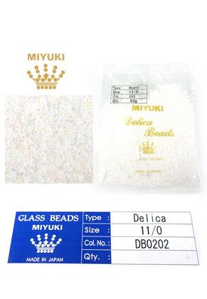 www.sayila.es - Miyuki Delica Beads rocailles de vidrio 11/0 1,6x1,3mm DB0202 (10000 pzs.)