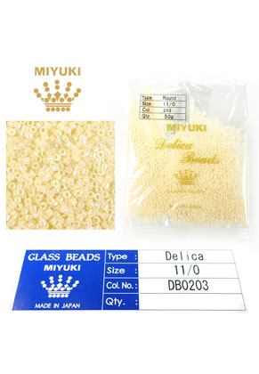 www.sayila.com - Miyuki Delica Beads glass seed beads 11/0 1,6x1,3mm DB0203 (10000 pcs.)