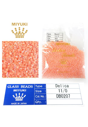 www.sayila.es - Miyuki Delica Beads rocailles de vidrio 11/0 1,6x1,3mm DB0207 (10000 pzs.)