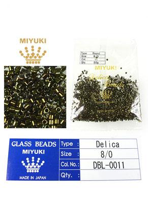 www.sayila.fr - Miyuki Delica Beads rocailles en verre 8/0 3x2,7mm DBL-0011 (1500 pcs.)