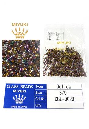 www.sayila-perlen.de - Miyuki Delica Beads Glas rocailles 8/0 3x2,7mm DBL-0023 (1500 St.)